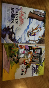 Two Calvin and Hobbes books