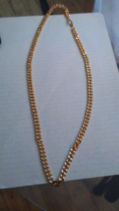 18k gold filled cuban linked chain