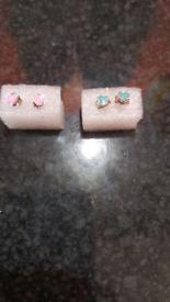 Tiffany Style elegant mini Turquoise or Pink Earrings