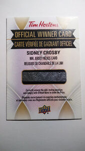 Tim Hortons Sidney Crosby Jersey Relics Card (Mint, 2016/2017)