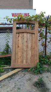 Custom wood and iron gate