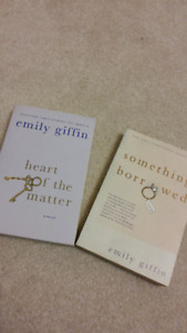 Emily Griffin Books - Something Borrowed and Heart of the Matter