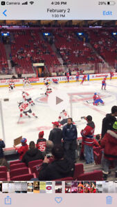 Montreal canadiens vs pittsburg penguins 114 RED row C March 2nd