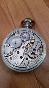 Early 1940's Military issued Rolex pocket watch in gun metal