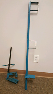 flat roof safety railing post for flat roofer