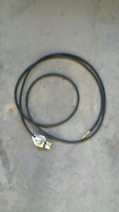Quick connect extension hose for Barbeque