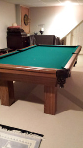 Pool Table with Cues & Accessories