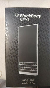 Brand New Sealed BlackBerry KEY2 Silver 64GB + 6GB RAM Unlocked