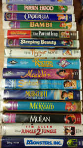 37 VHS movies mostly disney