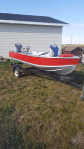 Fishing boat with 20hp johnson motor