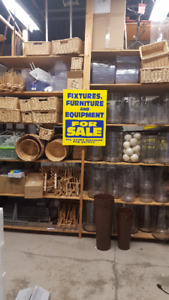 RETAIL STORE FIXTURES AND WAREHOUSE EQUIPMENT FOR SALE