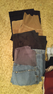 Small fall/winter maternity clothing mostly from Thyme Maternity