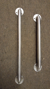 USED Toilet stainless steel supports