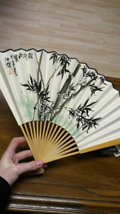 Handcrafted Japanese Paper Fan in Original Box