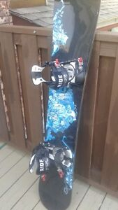 Burton snowboard, Ride bindings, Ride boots and goggles