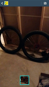 Pair of wide tires
