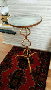 Vintage gold mirrored table