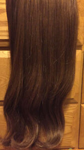 Caramel brown clip in Bombay hair extensions