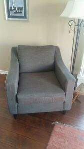 modern 3 seat sofa and matching chair
