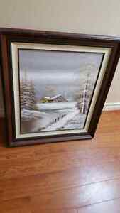 Oil Painting of Winter Landscape! $250 OBO