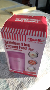 Brand New Purple Stainless Steel Vacuum Thermos (in box)