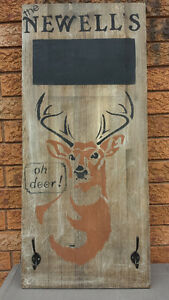 OH DEER!/SIGN WITH HOOKS/CHALKBOARD