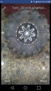 30 inch silverbacks HD rims Polaris bolt pattern or up for trad
