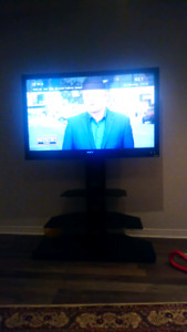 SONY FULL HD 52 inch flat screen TV with table