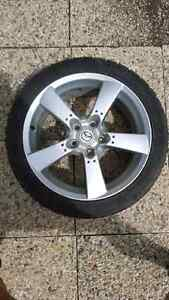"""245 40 r18 cooper zeon rs3 tires mounted on 18"""" mazda rx8 rim!"""
