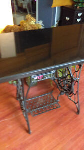 Antique Table with granite top