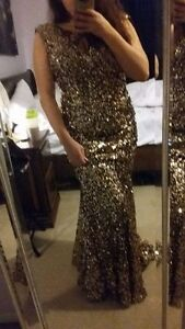 Beautiful Gold sequined Prom Dress
