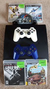 PS3 Console, 2 Controllers and Games or (Best Offer)
