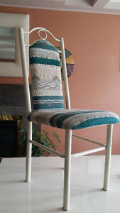 Off-White/Cream Dining Table and 6 Chairs - Leons London Ontario image 4