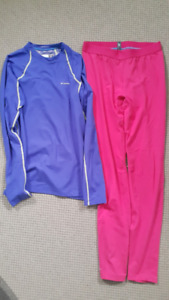 Used once women's Columbia Omni Heat base layer set Med Lrg