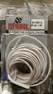 20 Packages of 20 gauge 25' Automotive Wiring - White