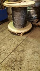 Câble d'acier inox 1/2'' / ss cable 1/2''