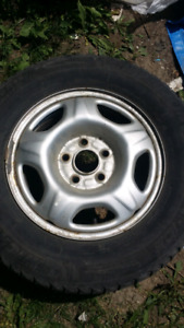 Set of 4 rims and tires michelin x ice 15 inch