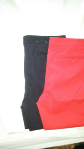 Dalia Capri Women Pants -Red & Black