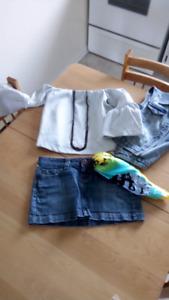 $20 pour toutTunique épaule dénuder jupe jeans 29