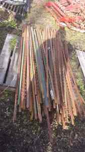 """Quantity of 6 Foot """"T"""" Steel Fence Posts"""
