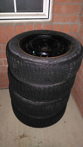 Selling 4 Michelin X-Ice Tires with RIMS - Size P185/65R15