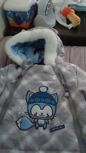 habit de neige de bébé 12 mois