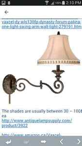 Brass swing arm wall lamps vintage West Island Greater Montréal image 6