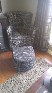 Beautiful chair and ottoman FOR SALE