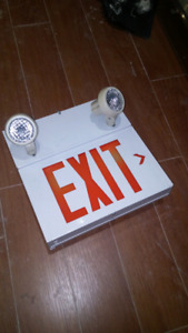 Exit sign and emergency light