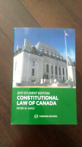 Constitutional Law of Canada - 2017 Student Edition