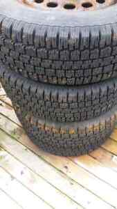 4 tires 215 70 15 winter studded tires