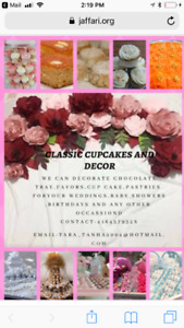 Classic cupcakes and decor