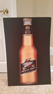 Miller Genuine Draft Poster Board Signage