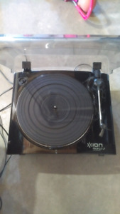 Sony Reciever and Ion Turntable Record player